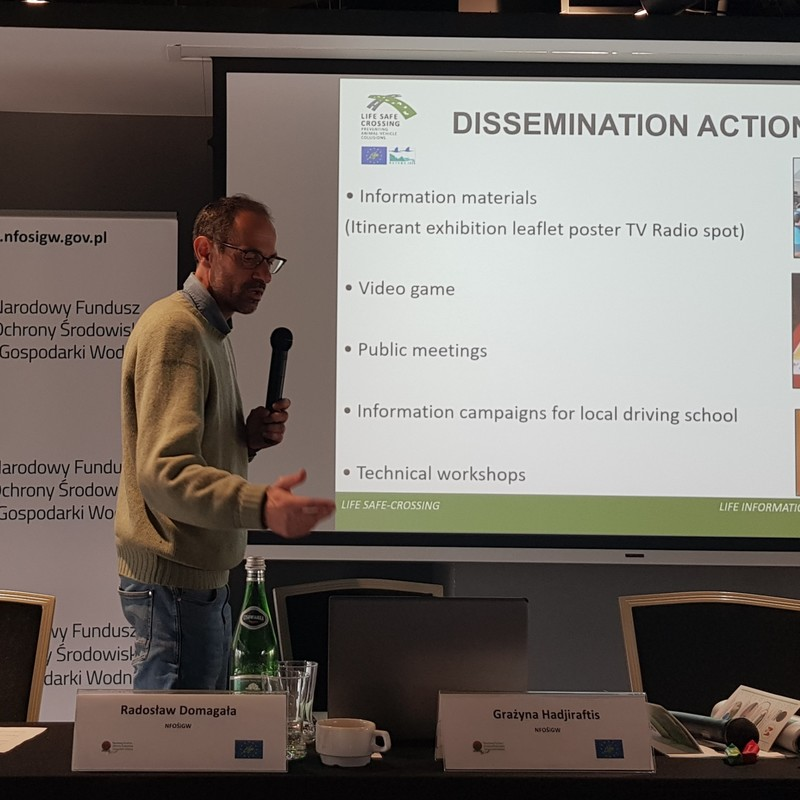 Presentation of the LIFE SAFE-CROSSING Project at the LIFE Info day in Warsaw